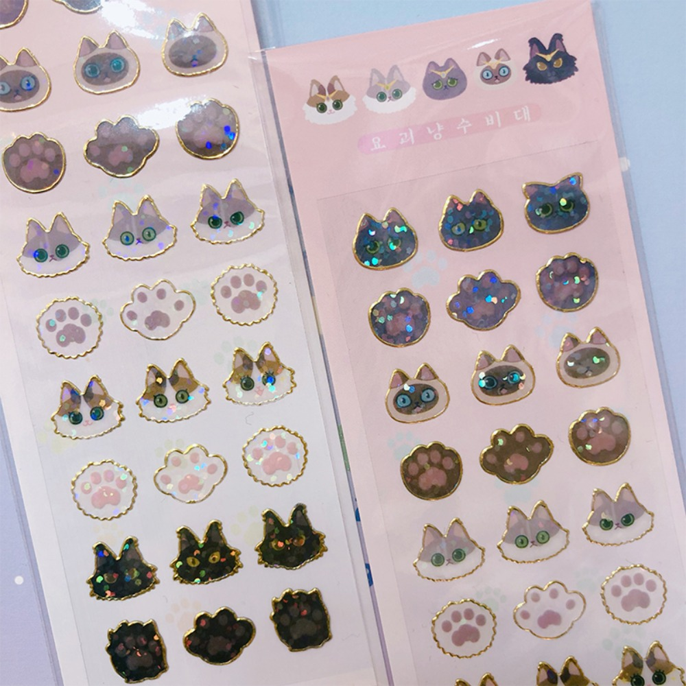 monster cat * glitter sticker - 요괴냥젤리