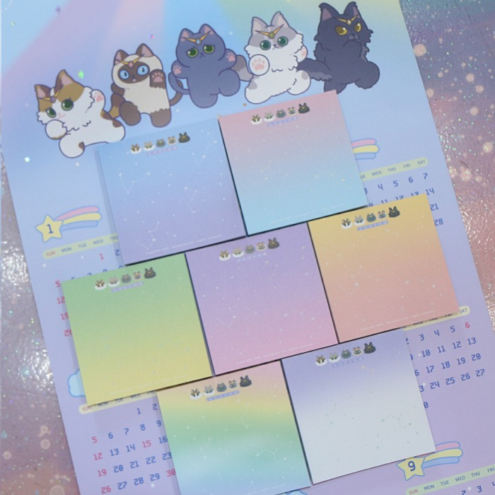 monster cat guardians* memo pad(7type)