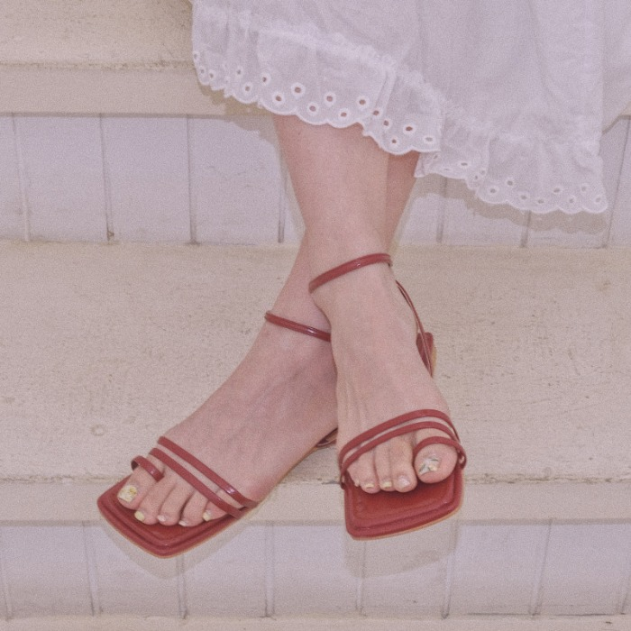 square flat sandal ( 4 color )
