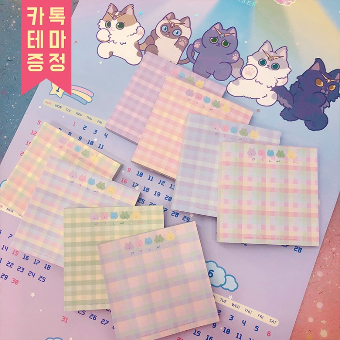moster cat guardians* jelly memo pad ( 8 type )